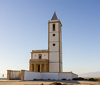 With his church located near Cabo de Gata